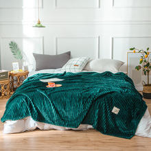 Super Soft Solid Throw Blanket Warm Fluffy Blanket Stripe Coral Fleece Blanket For Bed native american inspired wave stripe knitted throw blanket