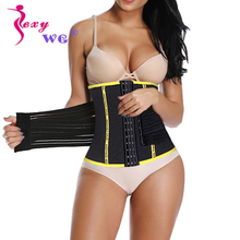 SEXYWG Back Support Waist Trainer Slimming Body Shaper Women Neoprene Sauna Shapewear Pulling Strap Firm Tummy Trimmer Slim Belt