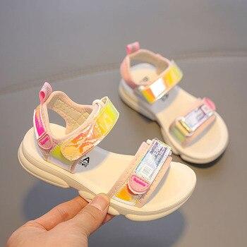 Babaya 子供のサンダルの王女の靴通気性ファッション学生ビーチのための 2020 夏新スタイル