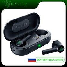 オリジナルの razer ハンマー bluetooth 5.0 tws イヤホンワイヤレスゲーム用超低レイテンシーの接続と充電ボックス