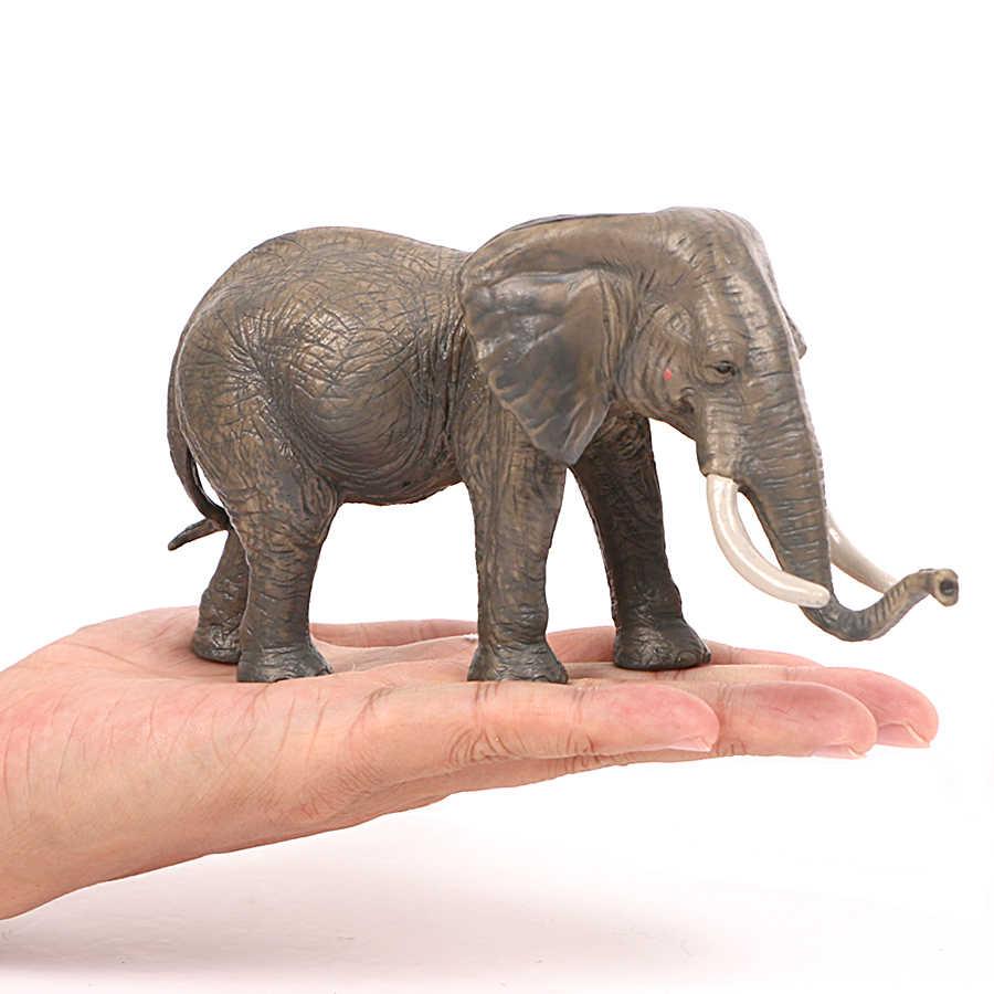 Simulação de Família do Elefante Africano, Em Miniatura Modelo Elefante Selvagem Animal Figuras de Ação Brinquedos para As Crianças