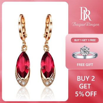 Begua Ringen Classic Design 925 sterling silver restoring ancient pomegranate red corundum earring fashion earrings Fine Jewelry