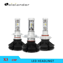 X3 CSP Car LED Headlight Bulbs 50W 6000LM 6000K H7 H4 H1 H3 HB3 HB4 H11 H13 9004 9005 9006 9007 Headlamp Foglight 2PCS