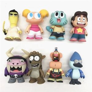 Коллекция мультфильмов/MORDECAI /STEVEN VNIYERSE /EDUARDO /UNCLE GRABDPA /SAMURAI JACK/DEE /RIGBY, модель игрушки без коробки