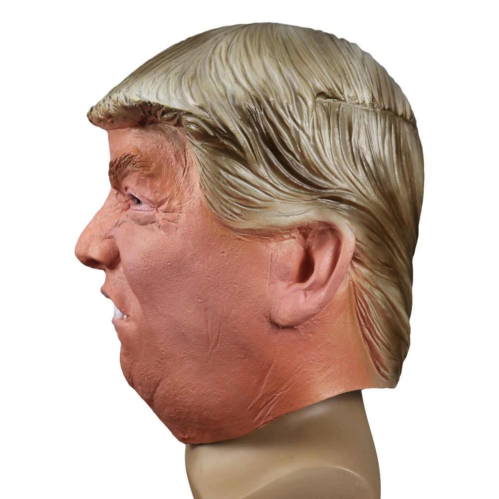 2020 Realistic Celebrity Halloween 2020 Funny Realistic Latex Celebrity Donald Trump President Mask