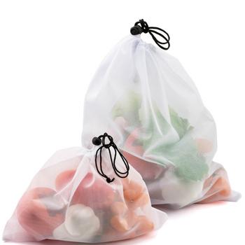 3 rozmiary wielokrotnego użytku owoce warzywa siatki torby z siatki zmywalne ekologiczne torby do przechowywania zabawek Organizer do suszenia prania torby do przechowywania tanie i dobre opinie CN (pochodzenie) as shown KİTCHEN Na stanie POLIESTER Torba kompresyjna Płaska Prostokątne Na rozmaitości As Picture