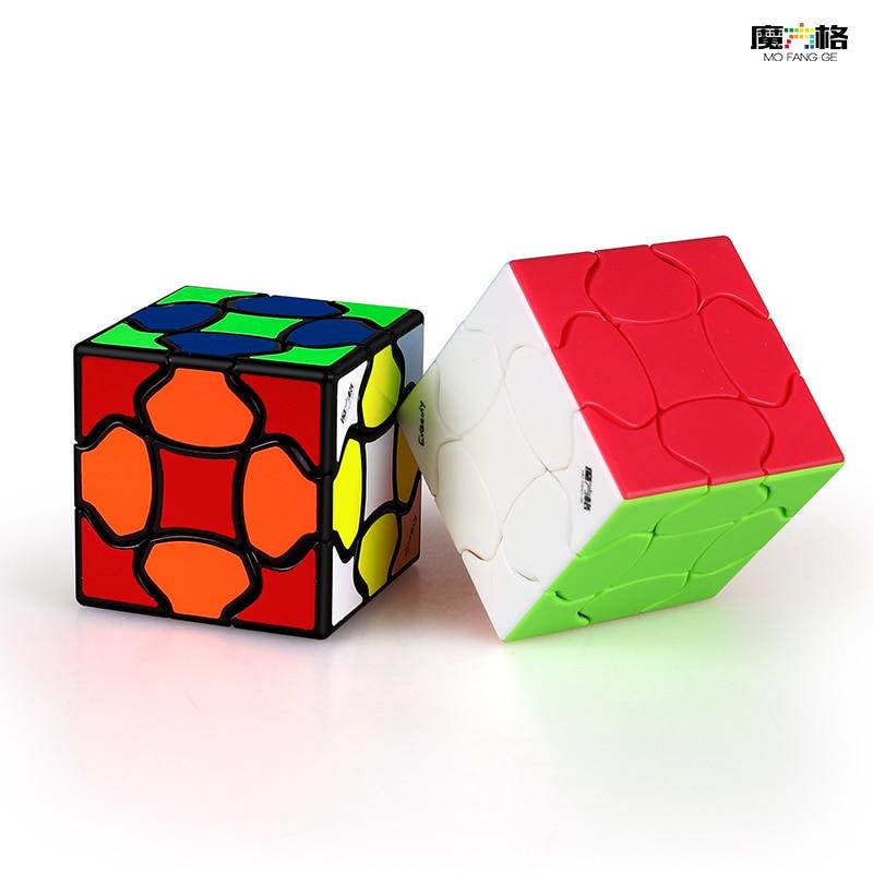 QiYi Mofangge Fluffy 3x3 Magic Cube Flower Twist 3x3 Speed Puzzle Neo Cube Stickerless Mofangge Fluffy Magic Cube