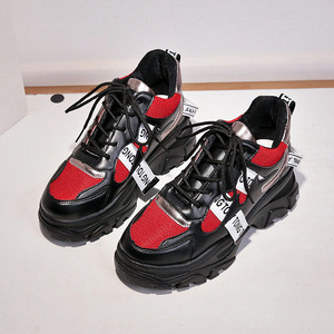 Image 3 - WFL/женские кроссовки на платформе; Не сужающийся книзу массивный папа; Обувь на толстой нескользящей подошве; Модная обувь для женщин; Спортивная обувь
