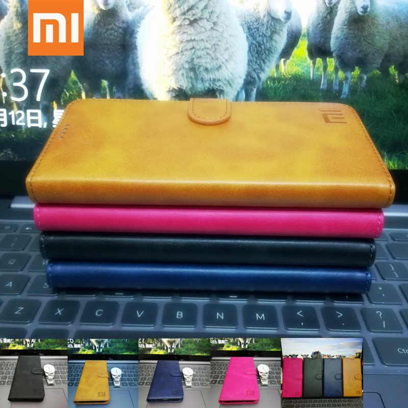 Original Xiaomi CC9E A3 หนังคู่แม่เหล็กสำหรับ Xiaomi A3 cc9e ผู้ถือบัตรหนังกรณี