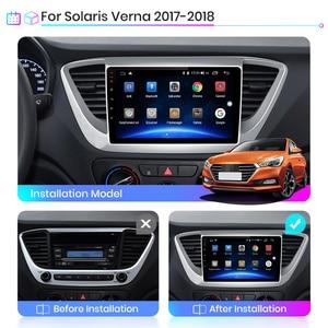 Image 3 - Junsun V1 2G + 32G Android 10 4G Auto Radio Multimedia audio Player GPS Navigation Für Hyundai solaris 2 Verna 2017 2018 keine 2 din