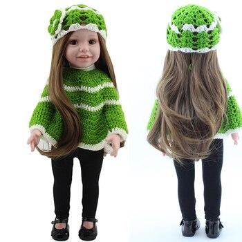18 Inch American baby Doll full vinyl bebe reborn princess girl doll toys for children gift