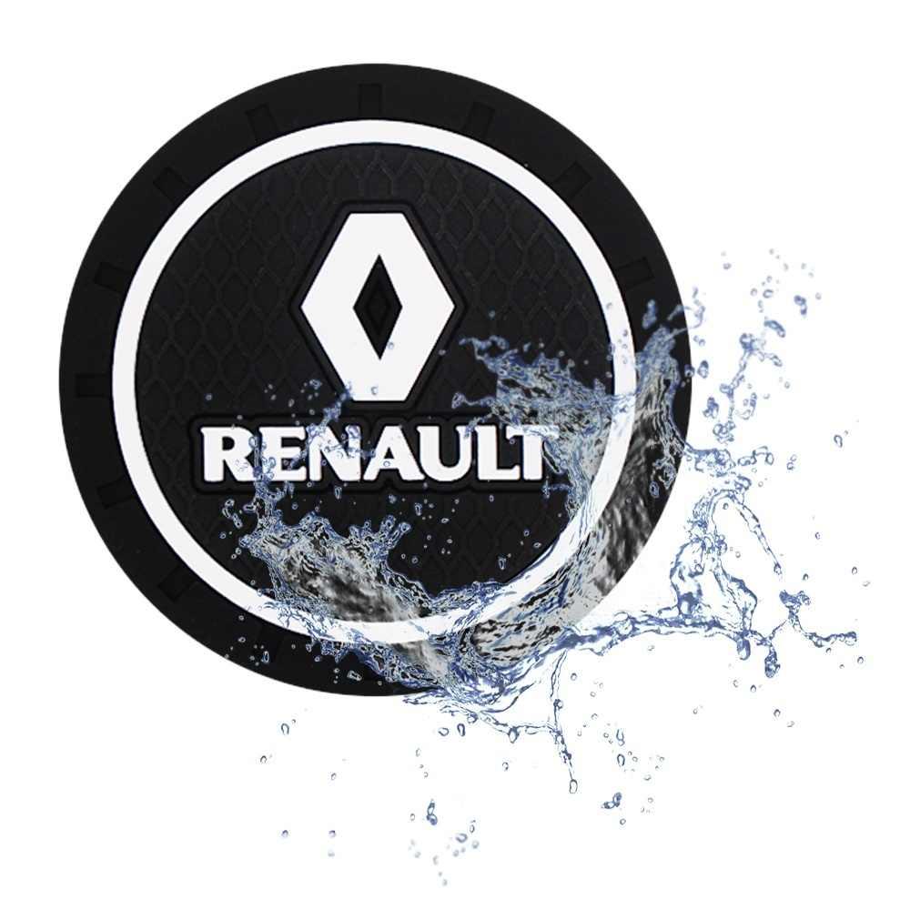 2 Pcs Mobil Coaster Silikon Epoxy Mobil Coaster Dekorasi untuk Renault Megane Mobil Pembentuk 2 3 Captur Garis Lintang Clio Scenic laguna