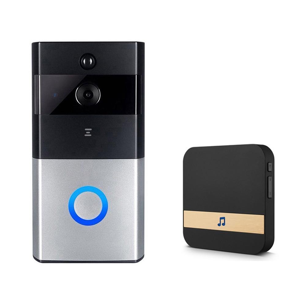 Chime Doorbells Night Vision Mobile Alarm Indoor Household Black Home WIFI