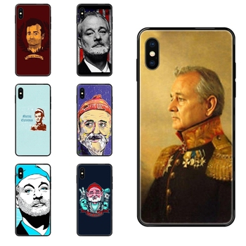 Famous Actor Bill Murray For iPhone 11 12 Pro 5 5S SE 5C 6 6S 7 8 X 10 XR XS Plus Max Black Soft TPU Protector Phone Cases image
