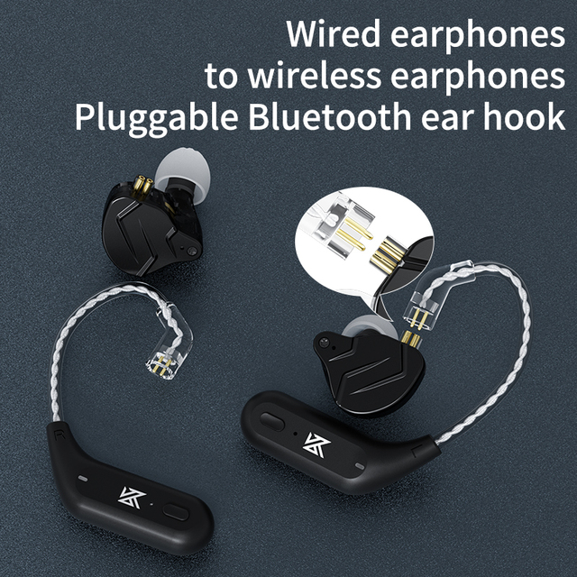 KZ AZ09 Wireless Upgrade Cable Bluetooth-compatible 5.2 HIFI Wireless Ear Hook C PIN Connector With Charging Case 5