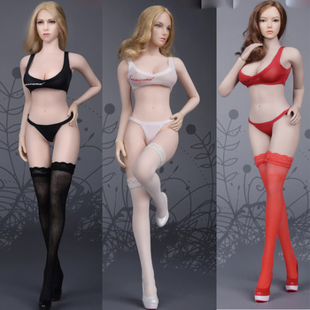 1/6 Scale Seamless stockings underwear Bra suit Clothing Accessories for 12in female soldier action figure collection