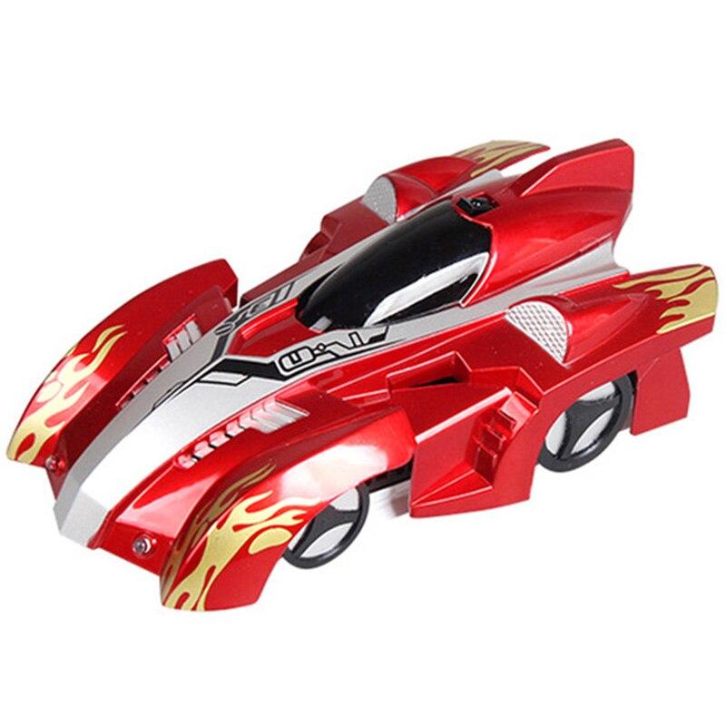 Control remoto escalada Rc coche con luces Led 360 grados giratoria truco juguetes antigravedad máquina de pared coche regalo