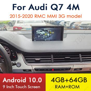 Android 10 4 + 64G dla Audi Q7 4M 2015 ~ 2020 nawigacja GPS samochodowy odtwarzacz multimedialny MMI 3G RMC radioodtwarzacz Stereo WiFi Bluetooth tanie i dobre opinie TBBCTEE CN (pochodzenie) podwójne złącze DIN 4*45W JPEG Hardware Electronics 1280*480 3 5kg Wbudowany GPs Odtwarzacz kasetowy