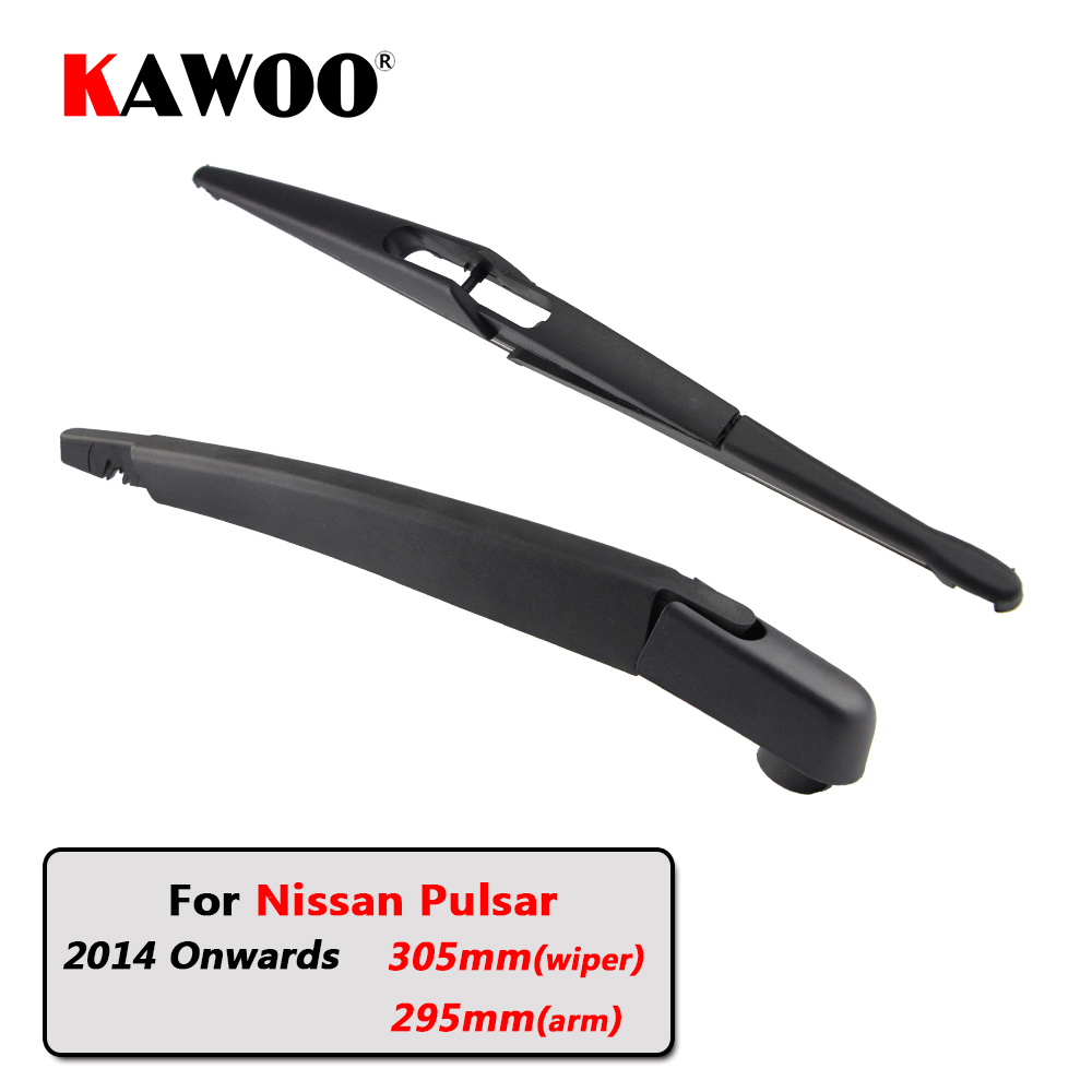 KAWOO Car Rear Wiper Blade Blades Back Window Wipers Arm For Nissan Pulsar Hatchback (2014 Onwards) 305mm Auto Windscreen Blade|Windscreen Wipers| |  - title=