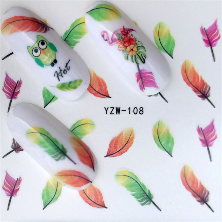 Creative South Korea Cartoon DIY Small Adhesive Paper Cute Nail Sticker Ri Ji Tie Phone Sticker Feather Nail Decal