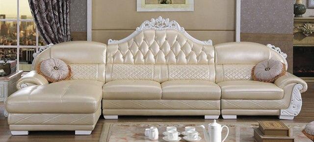 Whole Price Leather Corner Sofa