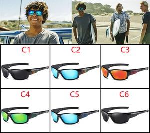 Image 2 - Viahda marca design novo polarizado óculos de sol dos homens moda masculina óculos de sol óculos de viagem pesca oculos com caixa