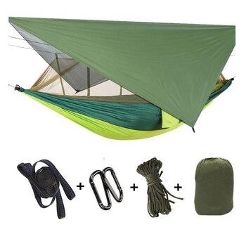 Camping Hammock With Mosquito Net Tarp Sun Shelter Tent Waterproof Beach Shade