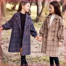 2020 хлопковое плотное модное шерстяное пальто в клетку для