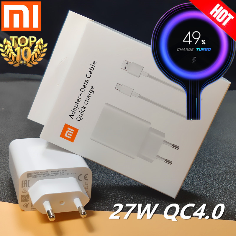 Xiaomi Charger 27W Original Mi Fast Charger EU QC 4.0 Turbo Adapter Type C For Mi 9 Pro Se 9t CC9 Redmi Note 7 8 Pro K20 Pad 4