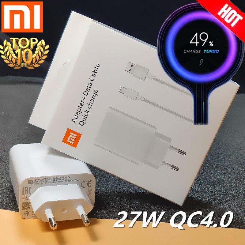 Xiaomi Charger 27W Original Mi Fast Charger EU QC 4.0 Turbo Adapter Type C For Mi 9 Pro Se 9t CC9 Redmi Note 7 8 Pro K20 Pad 4