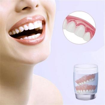 Simulation False Upper Tooth Teeth Whitening Strip Denture Brace Oral Care Toy You can wear the brace for dating job interviews. image