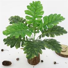Artificial Plant 1Bouquet 9 Heads Senecio Cineraria Leaves Home Bonsai Decor artificial grass plant New Arrvial
