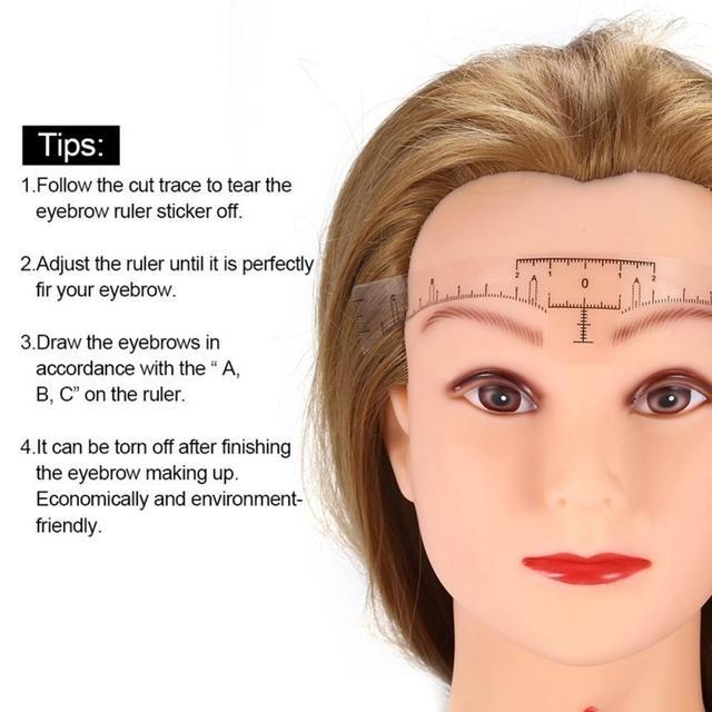 NEW 10PC Reusable Semi Permanent Eyebrow Ruler Eye Brow Measure Tool Eyebrow Guide Ruler Microblading Calliper Stencil Makeup 4