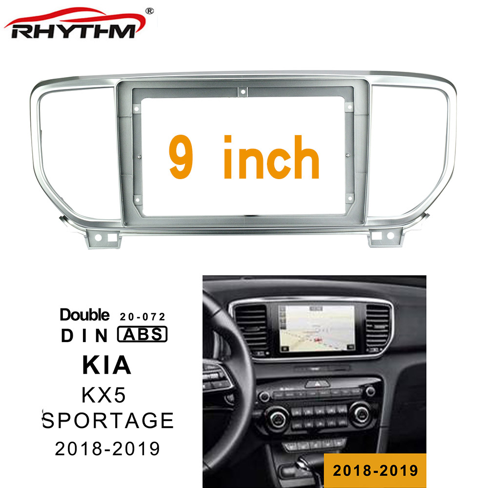 9 Inch Car Fascia For KIA KX5 (SPORTAGE) 2018-2019 Stereo 1/2din Panel Dashboard Mount Installation Double Din DVD Frame In-dash image