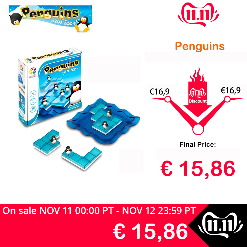 Smart Games Penguins On Ice Puzzle Game