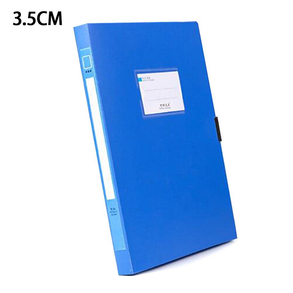 A4 Blue Files Folder Storage Bag Business Lightweight Document File Box 3.5cm/5.5cm Organizer Portable File Box