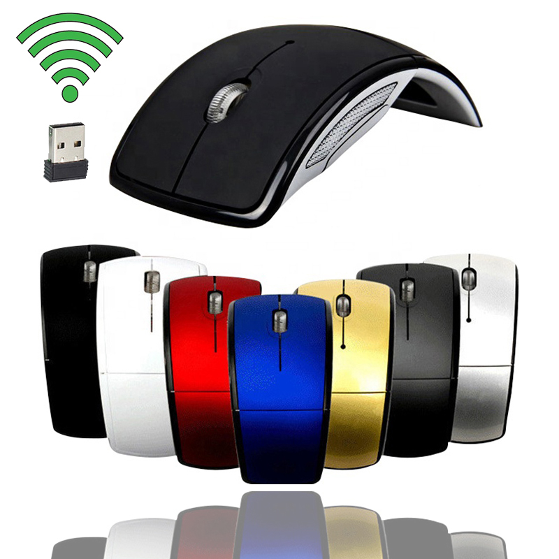 Wireless Mouse 2.4G Computer Mouse Foldable Folding Optical Mice USB Receiver For Laptop PC Computer Desktop Office Mouse Mice