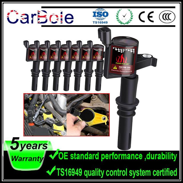 Carbole 8pcs DG511 Ignition Coil For Ford 2004 2005 2006 2007 2008 F 150 F150 F250 Expedition 4.6L 5.4L V8 V10 FD508
