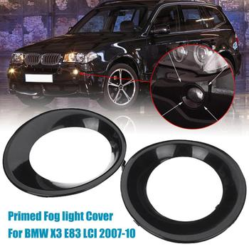 цена на 1Pcs Lamp Hood Fit for BMW X3 E83 LCI 2007 2008 2009 2010 Primed Black Fog Light Lamp Trim Driving Light Cover Primed Grill Trim