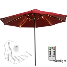 Light Parasol-Lamp Patio-Umbrella Garden Ogrodowy-Lighting Led-String Flexible-Decor