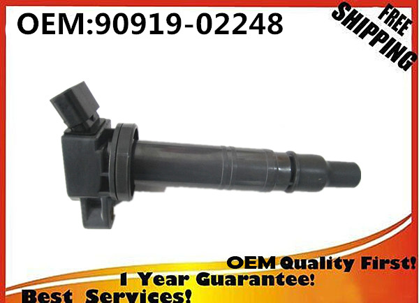 set 4 FROM CHINA NEW 100% GOOD QUALTIY IGNITION COIL PACK FOR 90919-02248 <font><b>9091902248</b></font> FOR Toyota Camry Tacoma Tundra 4Runner image