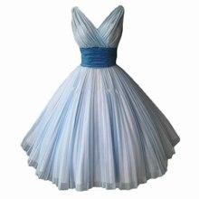 ANGELSBRIDEP Простые короткие платья подружки невесты синий V образным вырезом трапециевидной формы вечерние платья с рюшами женские свадебные платья