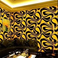 Beibehang 3d three dimensional personality fashion flash wall cloth bar hotel fancy ballroom box theme room wallpaper