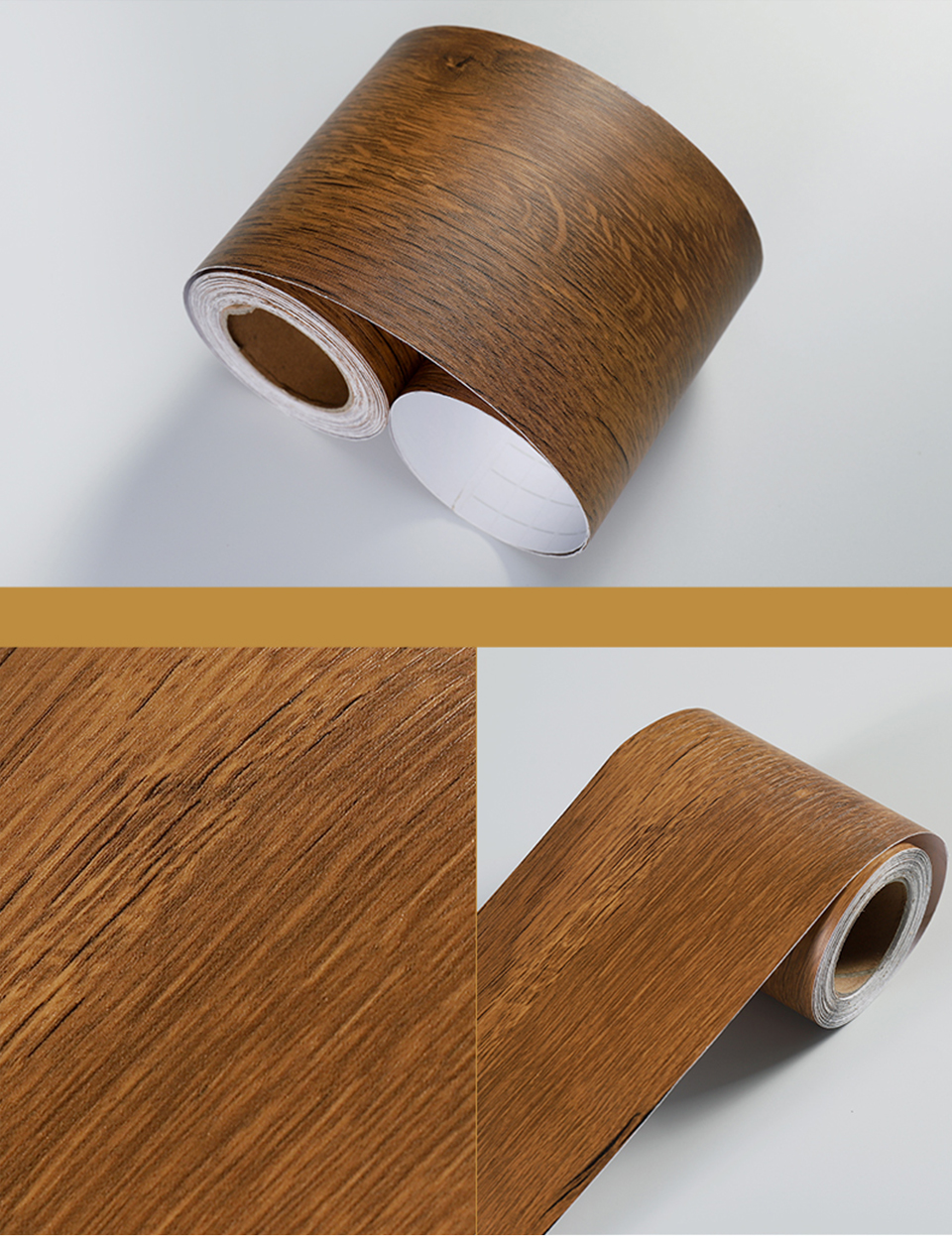 Wood Self Adhesive Window Decal Living Room Floor Border Skirting Contact Paper Waterproof Waist Line Wallpaper Home Improvement H1fc10e7480d94548bca0326b80752543R