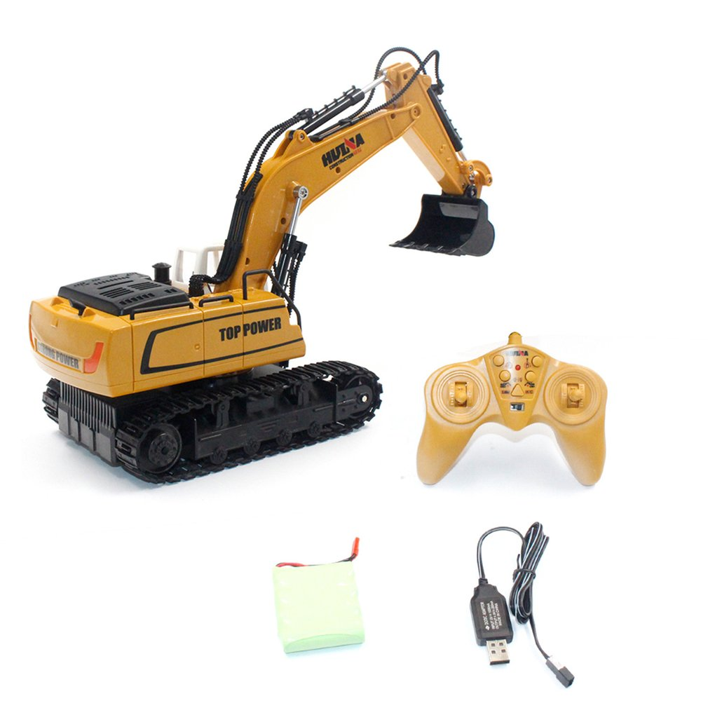HUINA TOYS 1331 1/18 9CH RC Excavator Truck Engineering Construction Car Remote Control Vehicle With 350 Degree Rotation Light