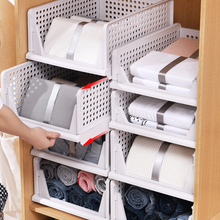 Storage Rack Shelf Clothes-Organizer Wardrobe Cabinet Partition Stackable Foldable Interspace
