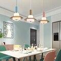 Подвесные потолочные светильники в скандинавском стиле  деревянный светодиодный подвесной светильник для гостиной