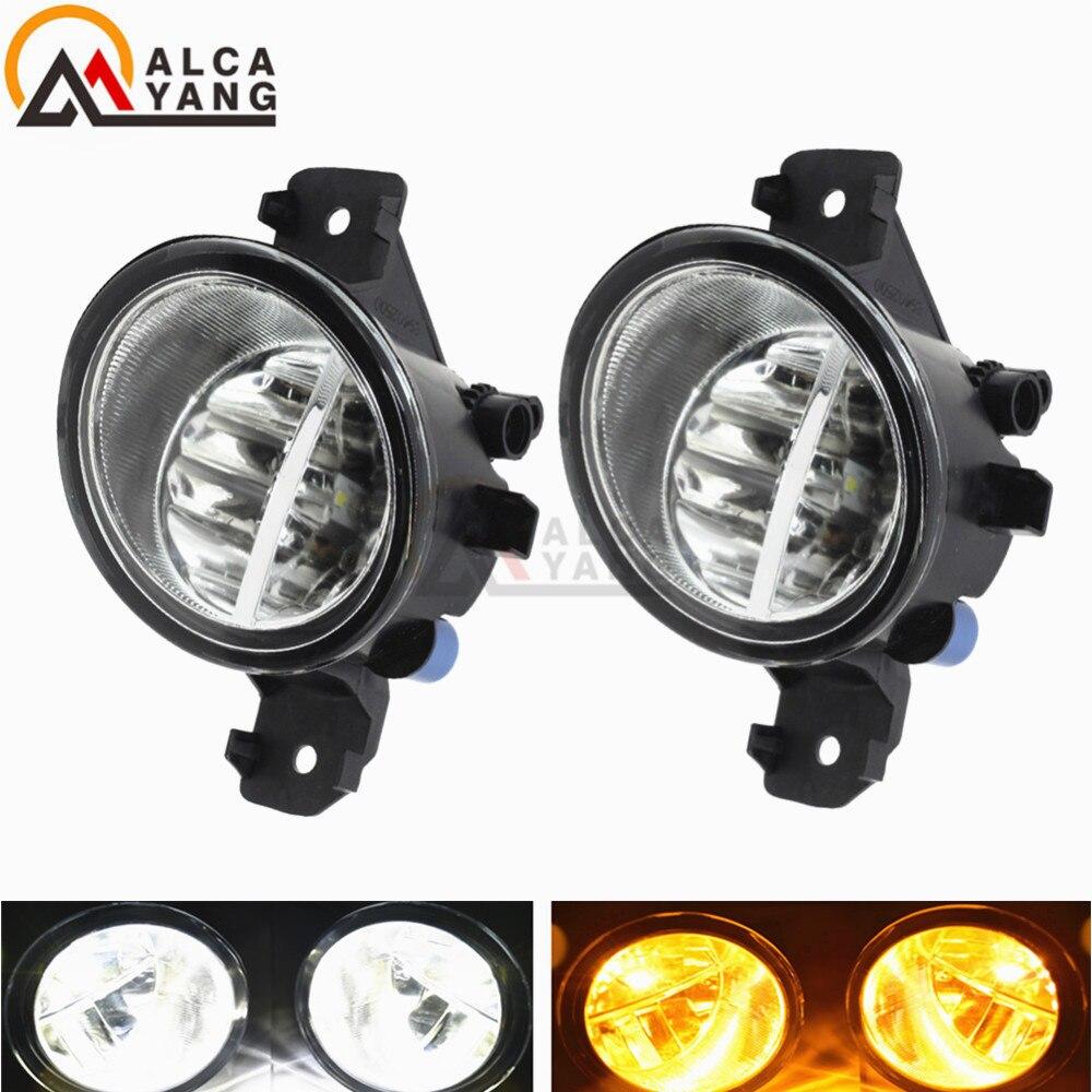 2PCS 12V LED / Halogen Fog LIGHT Lights Drl Refit For NISSAN QASHQAI / QASHQAI +2 (J10, JJ10) 2007-2012og Lights