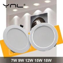 Luz descendente LED redonda para decoración del hogar, Lámpara empotrada de 18W, 15W, 12W, 9W, 7W, CA de 220V, 240V, decoración del hogar, dormitorio, cocina, punto de luz interior