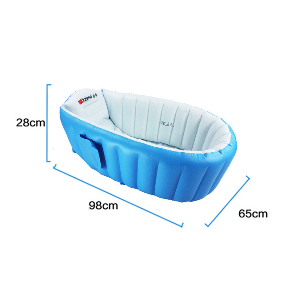 Baby Tubs Inflatable tub Portable children inflator bathtub cushions warm folding Bath Shower Products blue pink PVC Babies in Baby Tubs from Mother Kids
